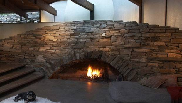 Unique Stone Fireplace Ideas One Total Pics Contemporary Mountain