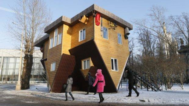 Upside Down House Moscow New Tourist Attraction Unusual