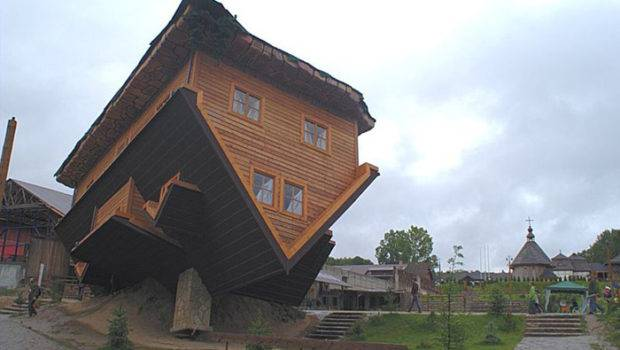 Upside Down House Szymbark Poland Unusual Architecture
