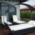 Urban Patio Stylish Contemporary Canopy Outdoor Bed Summer