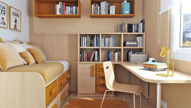 Utilizing Small Bedrooms Teenagers Interior