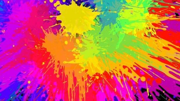 Vector Color Paint Splashing Effect