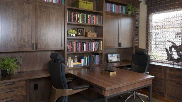 Vibrant Transitional Home Office Robeson Design