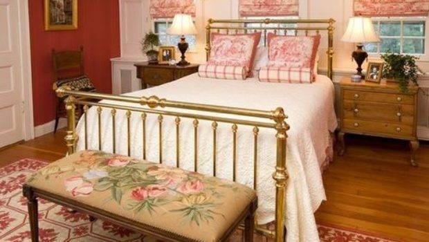 Victorian Bedroom Red Walls Design Ideas Remodel