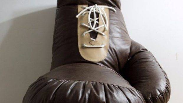 Vintage Look Leather Boxing Glove Chair Bean Bag Ornald