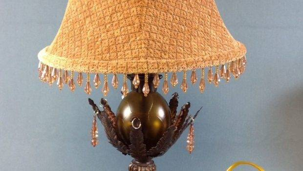 Vintage Table Lamp Shade Tall Ebay