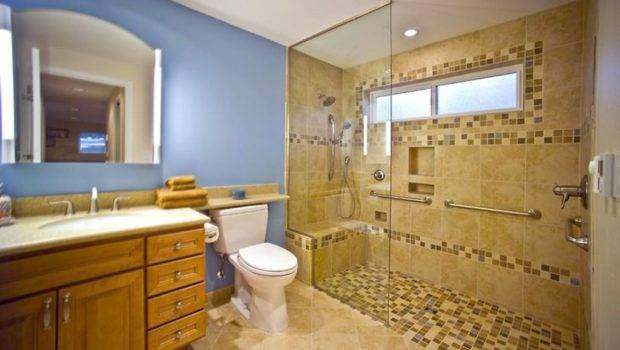 Walk Shower Ideas Small Bathrooms Colour Story