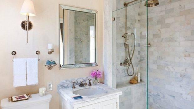 Walk Shower Ideas Small Bathrooms White Toilet Bathroom