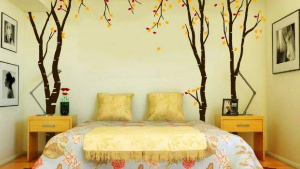 Wall Art Bedroom Design Ideas Cheap Wooden Side Tables Using