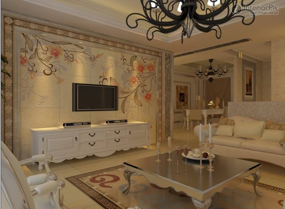 wall decor tiles living room livrooms