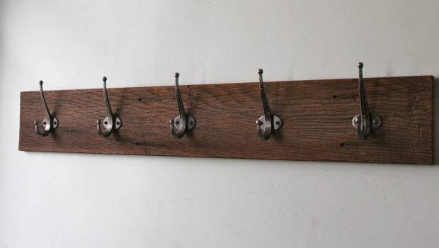 Wall Mounted Coat Rack Hook Shelf Hanger