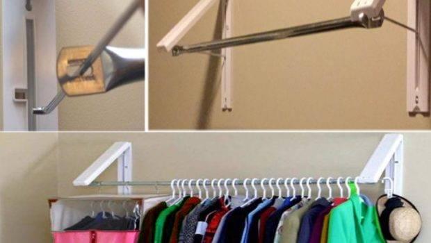 Wall Mounted Folding Laundry Shelf