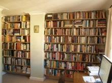 Wall Mounted Timber Bookshelves