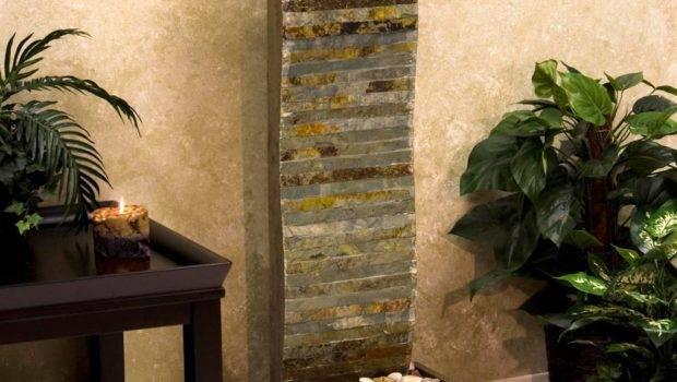 Wall Waterfall Fountains Indoor Backyard Design Ideas