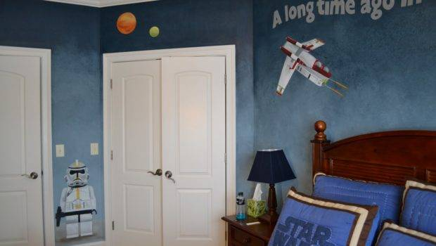 Wars Lego Room Mural Just Adore Blue Faux Finish