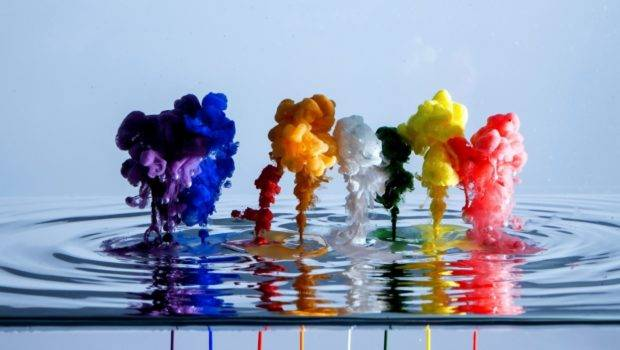 Water Patterns Paint Liquid Spreading Wallpapersbyte
