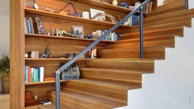 Ways Turn Stairs Into Amazing Bookshelf Library