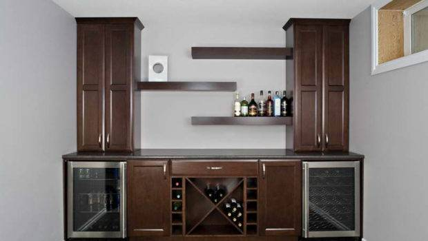 Wet Bar Designs Shelving Hanging Small Space