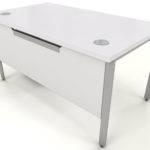 White Bench Desk Icw