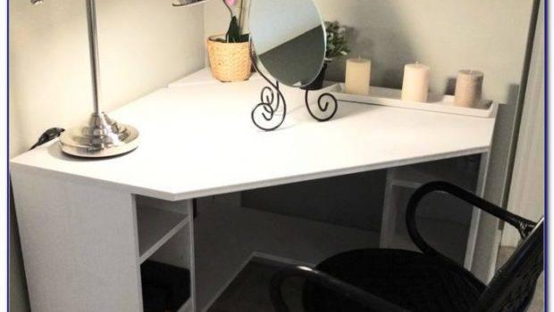 White Corner Desks Small Spaces Desk Home Design