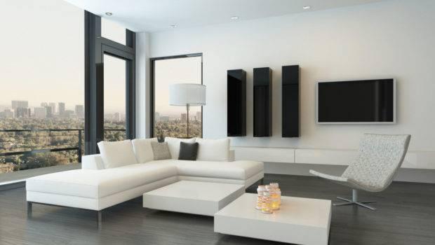 White Corner Sofa Modern Minimalist Living Room House