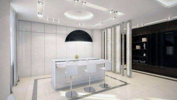 White Kitchen Elegant Classic Interior Design Ideas