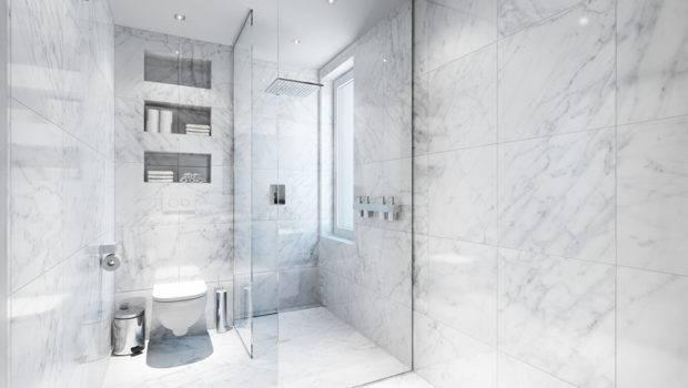 White Marble Bathroom Interior Design Ideas