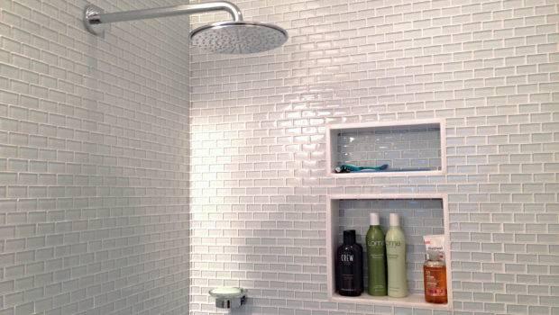 White Mini Glass Subway Tile Outlet