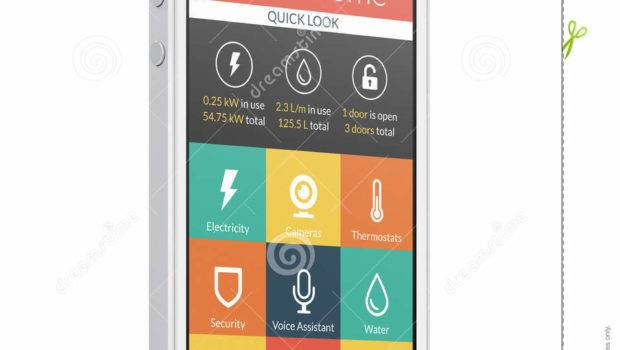 White Modern Mobile Smart Phone Home
