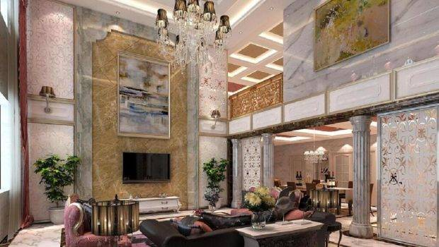 White Pink Curtain Window Living Room Pillar Decoration Ideas
