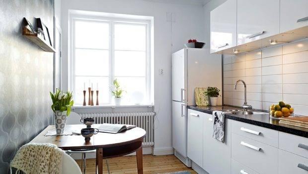 White Small Apartment Kitchen Island Washstand Olpos Design