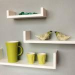 White Small Floating Shelves Wall Design
