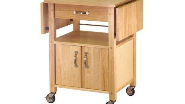 Winsome Double Drop Leaf Kitchen Cart Island