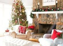 Wonderful Beautiful Christmas Living Room Decor Ideas