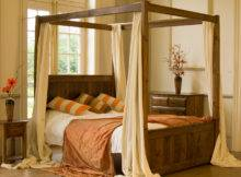 Wonderful Small Four Poster Canopy Bed Design Inspiration Creamy
