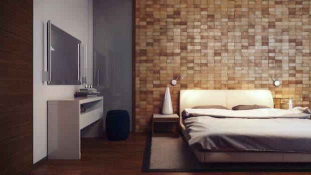 Wood Block Feature Wall Interior Design Ideas