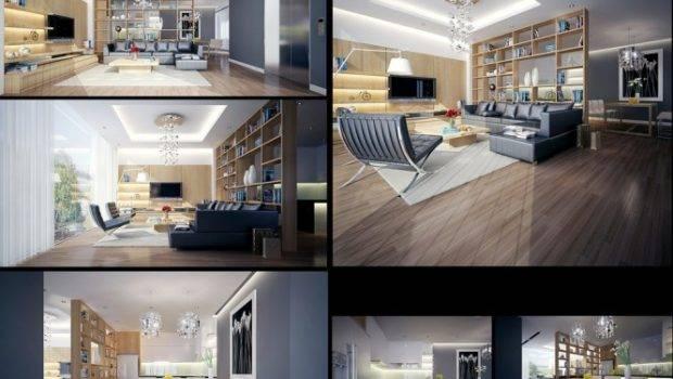 Wood Grey Lounge Dream Home Interiors Open Design
