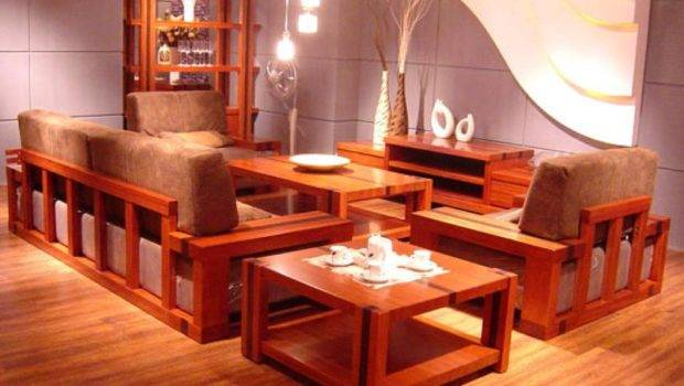 Wood Living Room Furniture Set Small Space Elegant