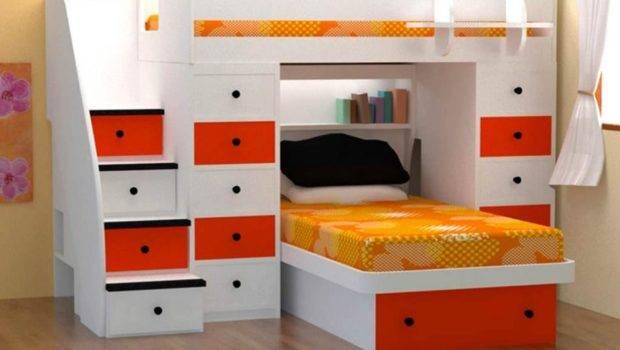 Wood Metal Loft Bed Which Having Long Narrow Desk