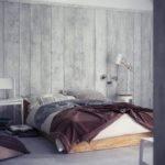 Wood Wall Panelling Platform Bed Interior Design Ideas