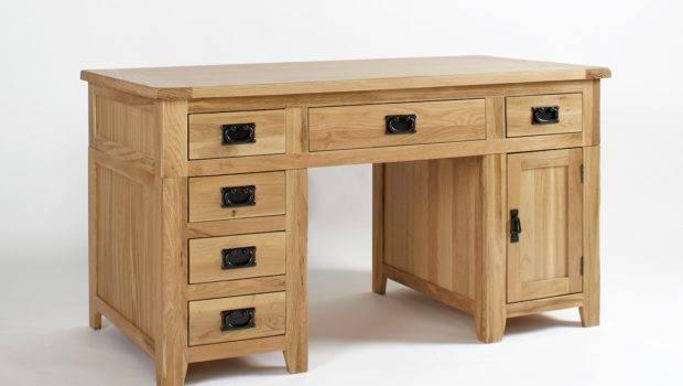 Wood Writing Desk Modern Small Storage