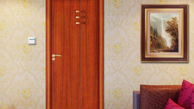 Wooden Door Design Bedroom Brown Wardrobe