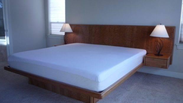 Wooden Floating Headboard Queen Ideas Platform Bed