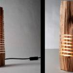 Wooden Lamps Show Light Within