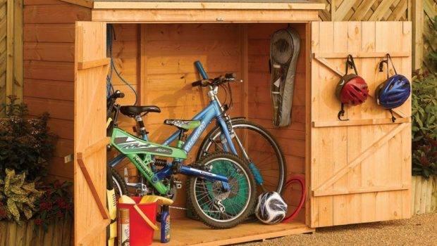 Wooden Shiplap Garden Bike Shed