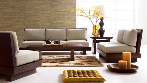 Wooden Sofa Designs Asian Themed Living Room Decor