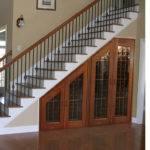 Wooden Under Stair Storage Closet Design