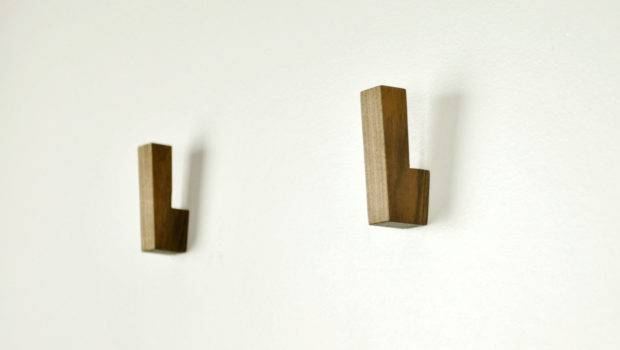 Wooden Wall Hooks Coat Modern