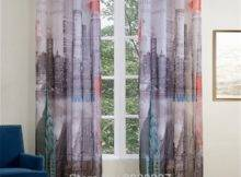 Xyzls New York City Printed Scenic Curtains