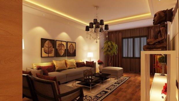 Yellow Brown Living Room